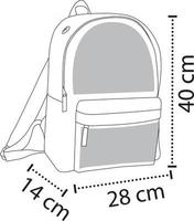 Large Middle Compartment Bags vector