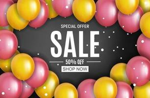 Abstract Designs Sale Banner Template. Vector Illustration