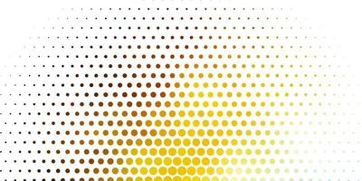 Light Blue, Yellow vector pattern with spheres. Colorful illustration with gradient dots in nature style. Design for posters, banners.