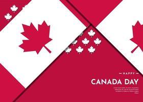 Fondo de celebración del día de Canadá con diseño de hoja de arce vector