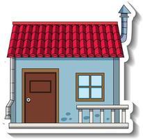 plantilla de etiqueta con una mini casa individual aislada vector