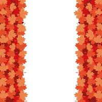 diseño de vector de marco de hojas de arce otoñal
