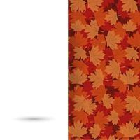 diseño de vector de hojas de arce otoñal