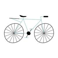 icono de bicicleta retro vector