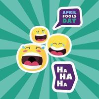 emojis fools day vector