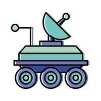 robot espacial con diseño de vector de antena