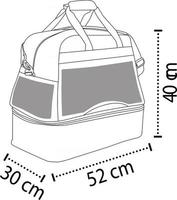 Sports Bag With Shoes Compartment vector