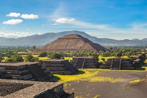 Pyramid of Sun at Teotihuacan in Mexico photo