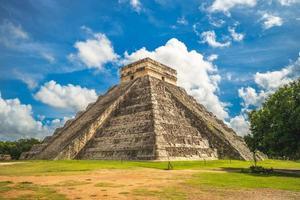El Castillo, the Temple of Kukulcan at Chichen Itza in Mexico photo