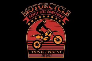T-shirt silhouette motorcycle vintage style retro vector