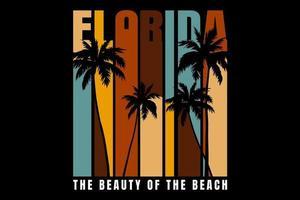 T-shirt beach florida beautiful retro style vector