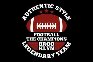 T-shirt typography authentic style football champions vector