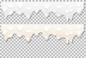 Liquid mayonnaise white texture Vector