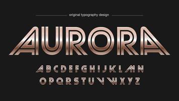 Bronze Retro Metallic Typography vector