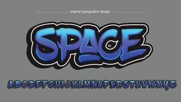 Neon Blue Graffiti Typography vector
