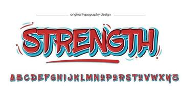Red and Blue Graffiti Typography vector