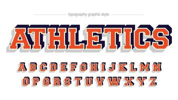 Red 3D Varsity Sports Typography vector
