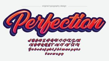 Red Modern Calligraphy Text Style vector