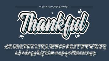 3D White Calligraphy Text Style vector