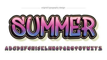 Neon Pink Summer Graffiti Typography vector