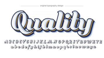 Elegant Cursive White Typography vector