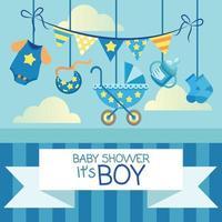 baby stuff newborn stuff baby shower card vector