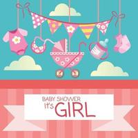 baby girls newborn stuff baby shower element vector