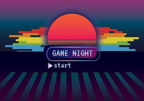 Game night background vector