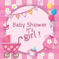 baby girl baby shower for girls vector