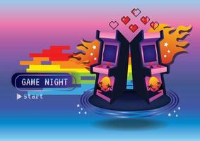 I love game Game zone game icon background vector