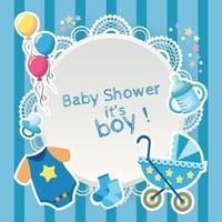 newborn stuff baby shower for baby boy vector