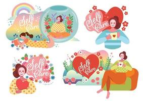 self care concept vector