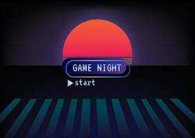 text game night Game zone game icon background vector
