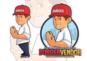 Chef Mascot Design for Burge Vendor vector