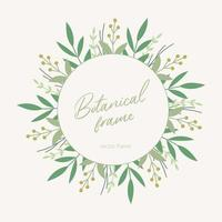 botanical frame with leaves vector