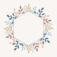 floral frame , vector