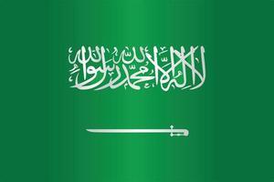 Saudi Arabia flag symbol flat vector with gradient color