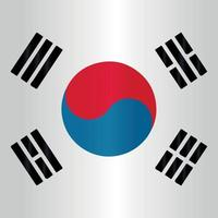 round dot asian south korea flag symbol flat vector with gradient color