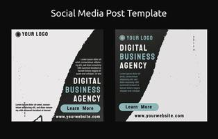 Business Social Post template with grey color vector
