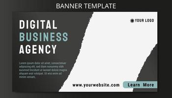 Business Banner Ads Template with grey color background vector