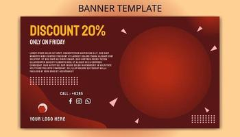 Red Business Background banner Template vector