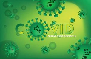 Corona Virus Background with green color vector