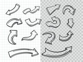 Hand drawn Doodle Arrow vector