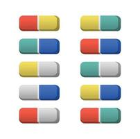 Eraser icon vector illustration template. Rubber isolated on white background
