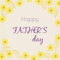 Feliz día del padre concepto de vector de texto con flores y hojas de fondo para carteles folletos marketing tarjetas de felicitación banner invitación felicitación