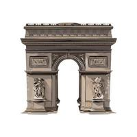 Paris Triumphal Arch from a splash of watercolor, colored drawing, realistic. Vector illustration of paints