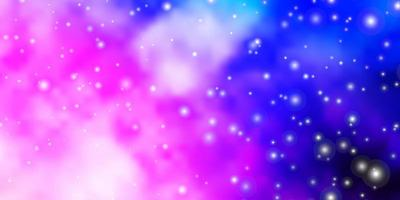 Light Pink, Blue vector background with small and big stars. Colorful illustration with abstract gradient stars. Pattern for wrapping gifts.