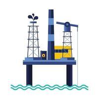 petroleum platform of oil price icon vector