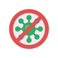 stop covid19 virus particle flat style vector
