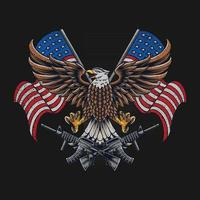 eagle united states american flag vector free